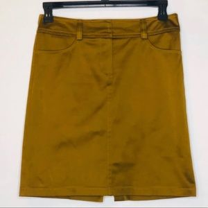 Trina Turk Skirt 6 Copper Knee Length Office Party
